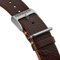 Brown Leather Nato strap | 24mm