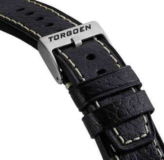 Black Leather Strap | 22mm