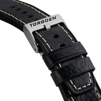 XL Shiny Black Leather Strap | 24mm
