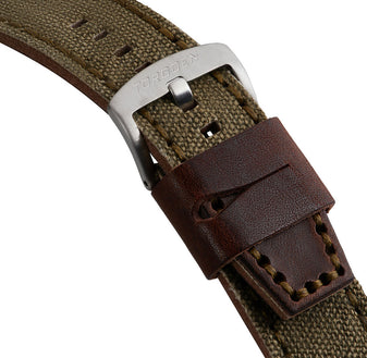 Brown and Green Leather Strap | 24mm