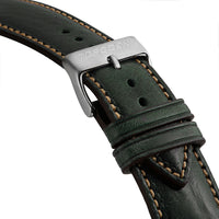 Slate Leather, Beige Stitches Strap | 24mm