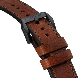 Vintage Leather Strap | 24mm Black Buckle