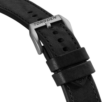 Black Vintage Leather Strap | 24mm