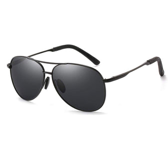 Black Polarized Aviator Sunglasses