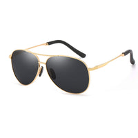 Golden Polarized Aviator Sunglasses
