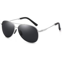 Grey Polarized Aviator Sunglasses
