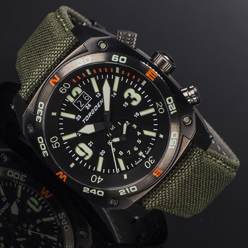 T7TA Tactical Black | 43 mm - 2 Additional Bands