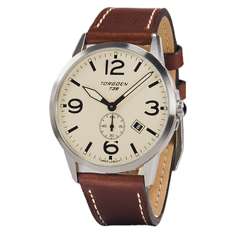 T39 Cream | 41mm - Leather Strap