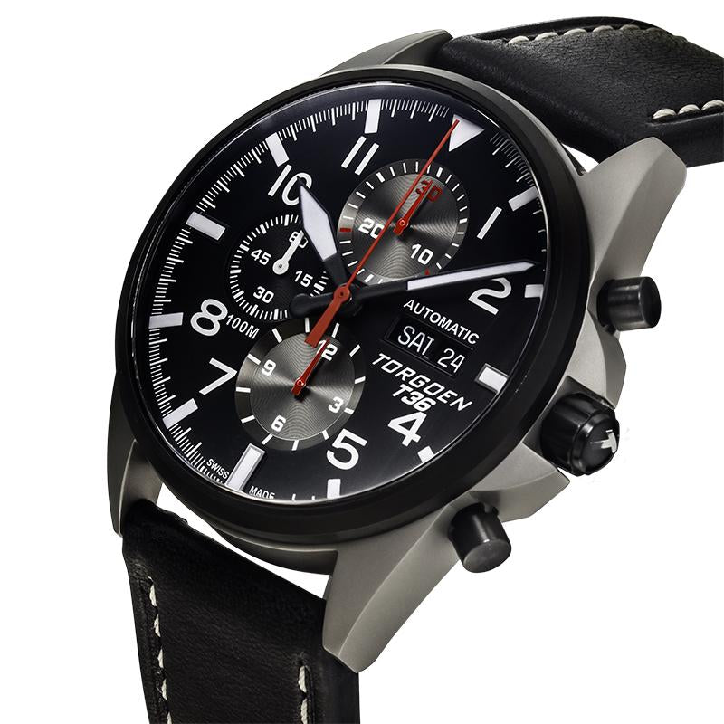 T36 Black Automatic | 44mm - Limited Edition - Valjoux 7750