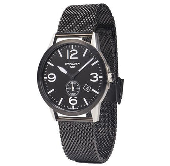 T39 Black | 41mm - Black Metal Strap