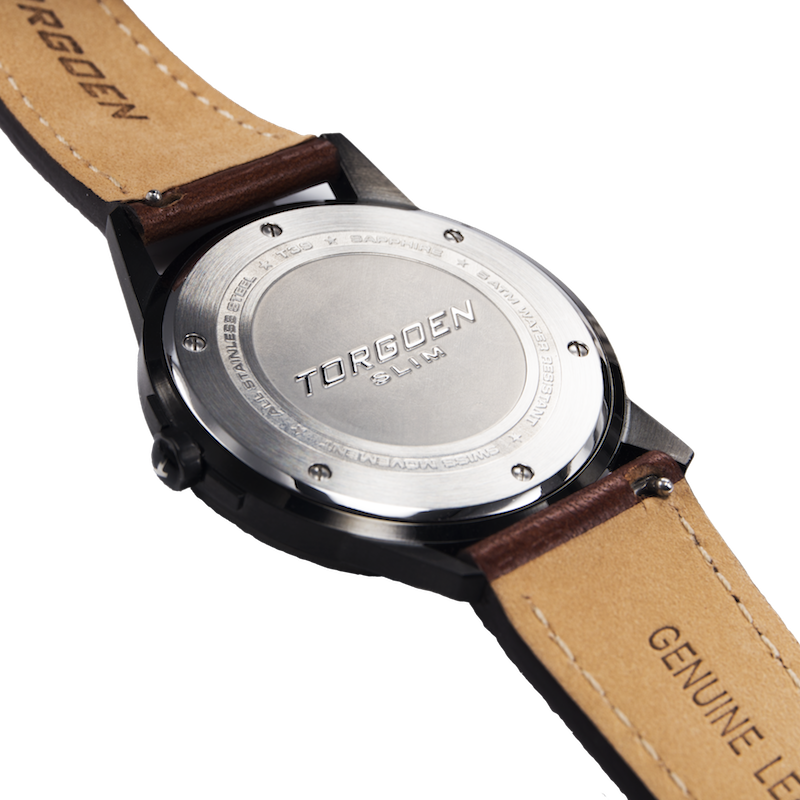 T39 Green | 41mm - Leather Strap