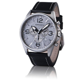 T16 Meteorite | Gray Case - 44mm - Leather Strap