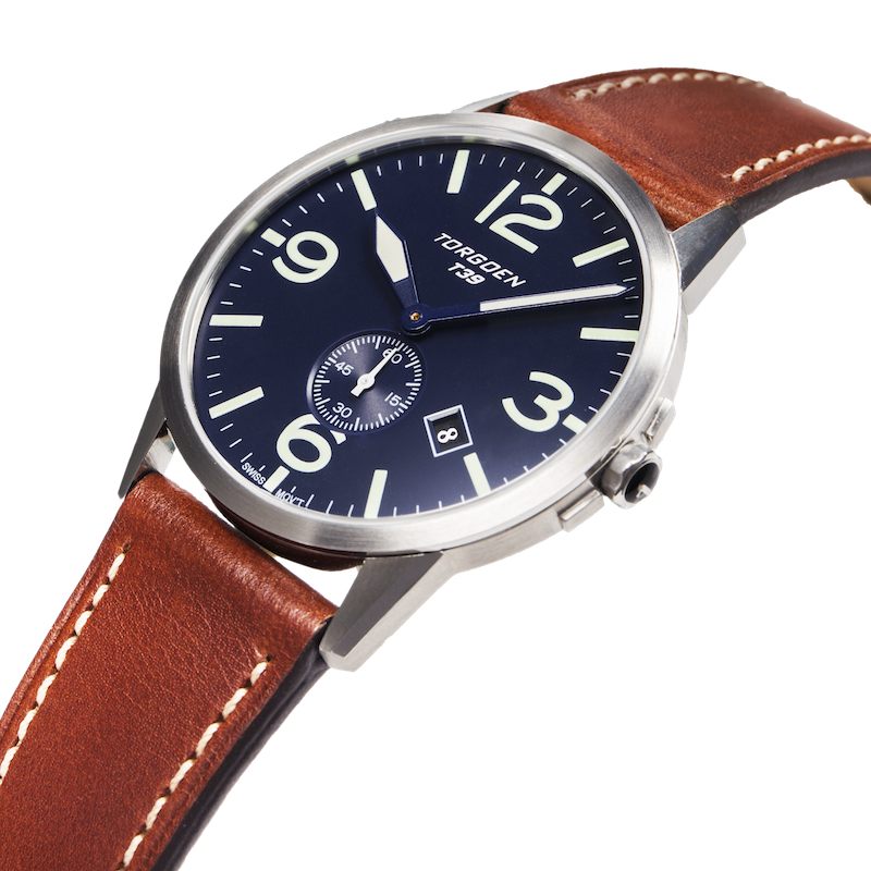 T39 Blue | 41mm - Leather Strap