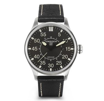 T34 - Grey | 45mm - Leather Strap
