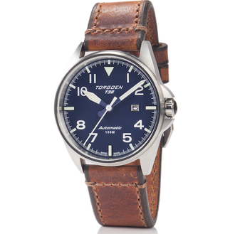 T38 Blue | 44mm - Vintage Leather Strap