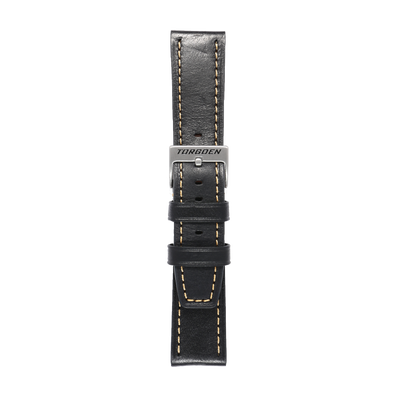 Black Leather Strap | 22 mm