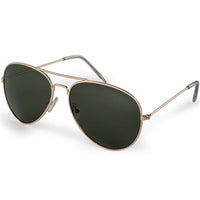 Polarized Sunglasses Golden Frame with G15 Lens