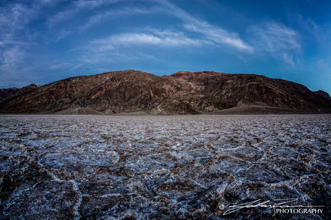 Blue Hour at Badwater, Death Valley by John Ramer Photography
