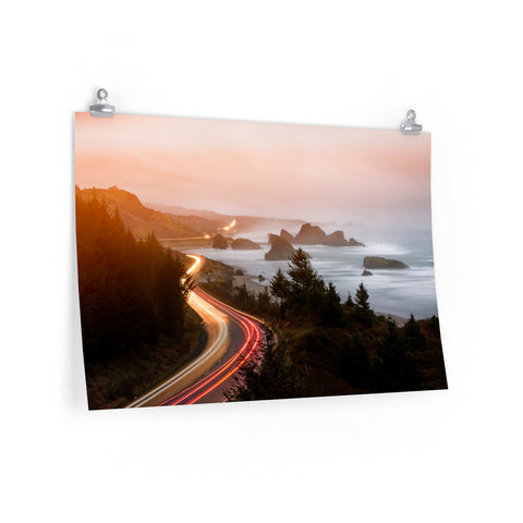 """Down the Road"" Premium Matte horizontal posters by John Ramer Photography"