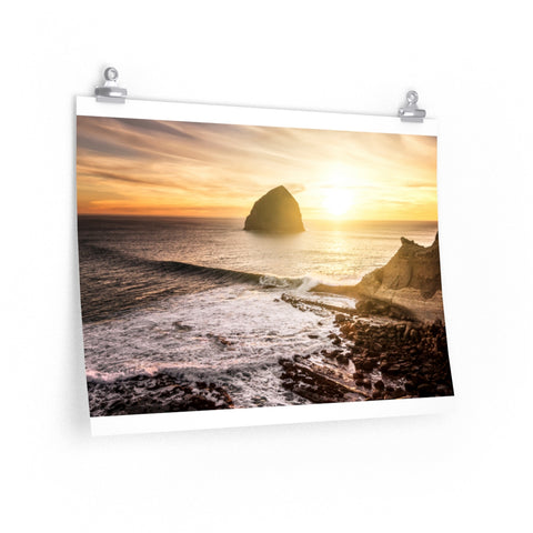 """Pacific Golden Hour"" Premium Matte horizontal posters by John Ramer Photography"