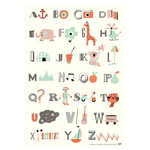 ABC Poster- Becky Baur - Zigzag and Zebra