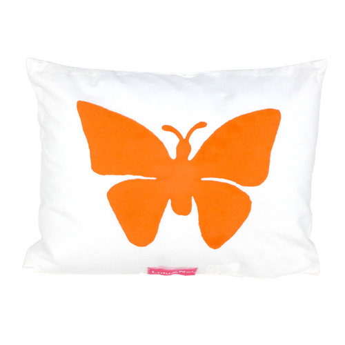 Butterfly Printed Cushion Pink/Orange- Lulu & Nat