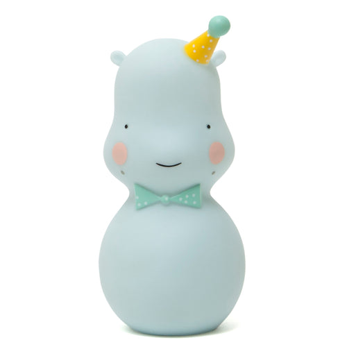 Hippo Nightlight (Celadon)- Petit Monkey - Zigzag and Zebra