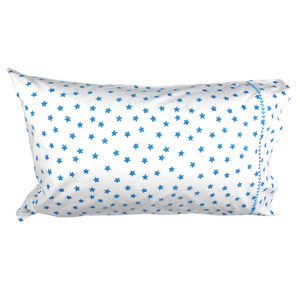 Blue Star Single Pillowcase- Lulu & Nat - Zigzag and Zebra
