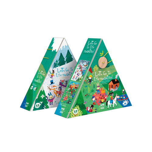 zigzag-and-zebra - Let's Go To The Mountain Puzzle- Londji - Zigzag and Zebra - Toy
