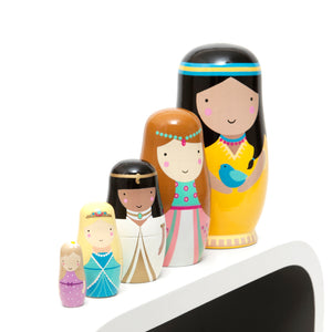 Princess Nesting Dolls- Petit Monkey - Zigzag and Zebra