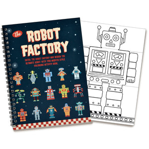Robot Factory Flip Colouring Book- Clockwork Soldier - Zigzag and Zebra