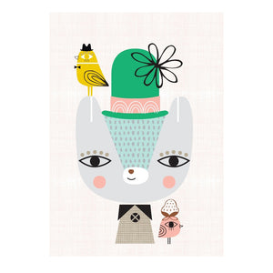zigzag-and-zebra - Thierry the Bear- Petit Monkey - Zigzag and Zebra - Wall Print