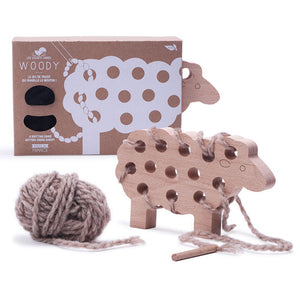 Woody Sheep Grey- Les Jouets Libres - Zigzag and Zebra