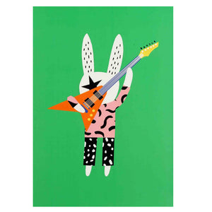zigzag-and-zebra - Guitar Poster A3- Becky Baur - Zigzag and Zebra - Wall Print