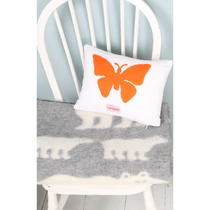 Butterfly Printed Cushion Pink/Orange- Lulu & Nat - Zigzag and Zebra