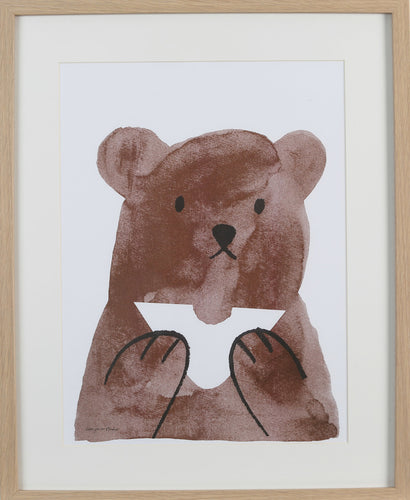 Buttie Bear Risograph Print- Lisa Jones