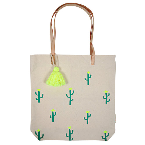 Canvas Cactus Tote Bag- Meri Meri - Zigzag and Zebra