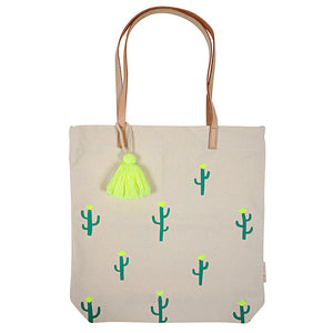 zigzag-and-zebra - Canvas Cactus Tote Bag- Meri Meri - Zigzag and Zebra - Home accessories