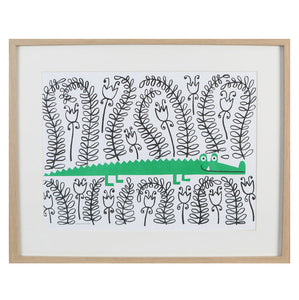 zigzag-and-zebra - Crocodile Risograph Print- Lisa Jones - Zigzag and Zebra - Wall Print