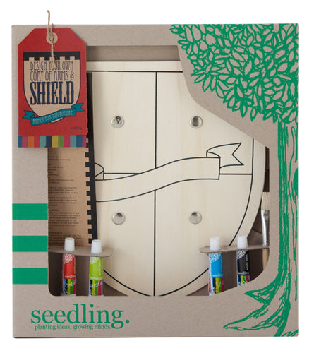 Design Your Own Wooden Shield- Seedling - Zigzag and Zebra