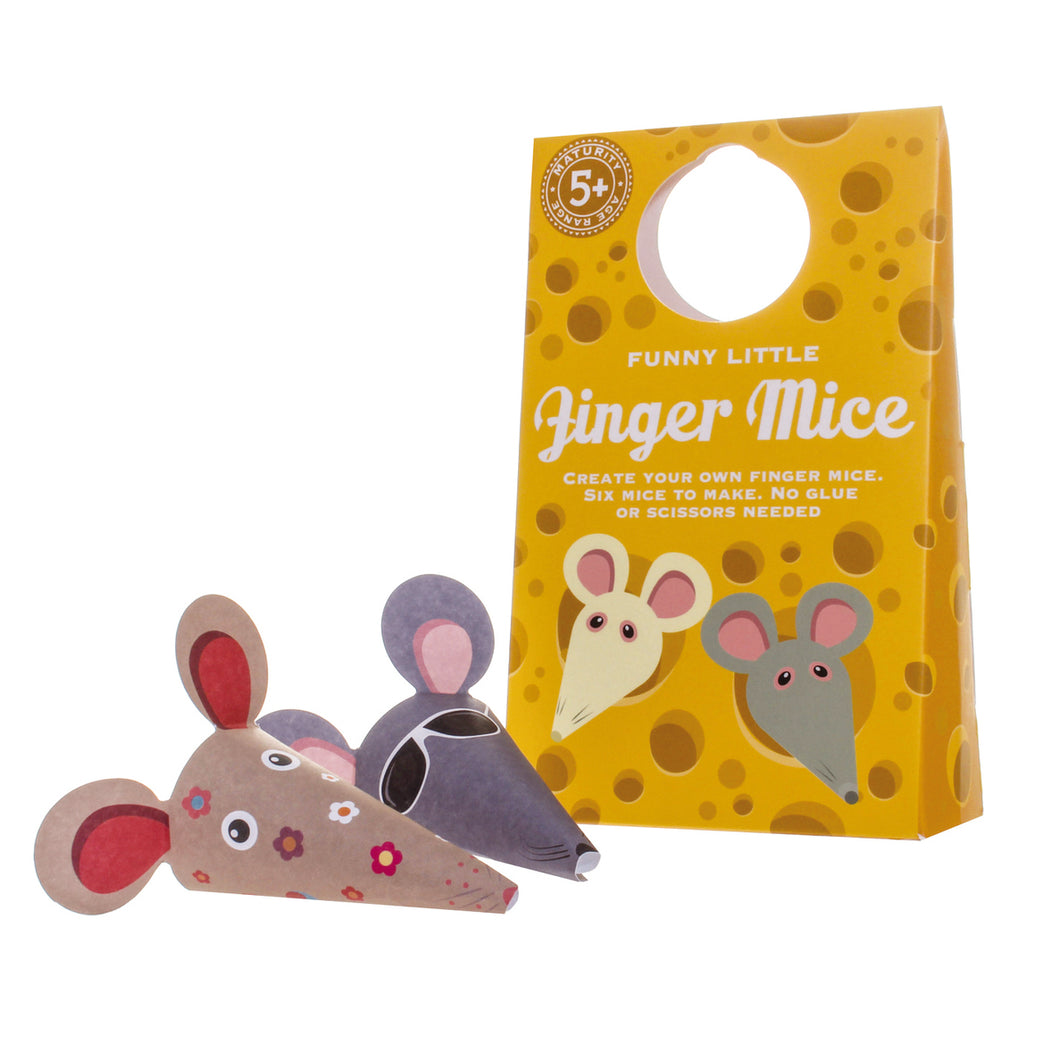 Funny Little Finger Mice- Clockwork Soldier - Zigzag and Zebra