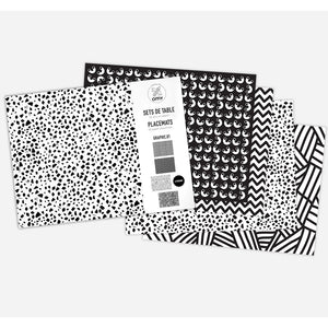 zigzag-and-zebra - Graphic Placemats- Omy - Zigzag and Zebra - Home accessories