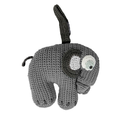 zigzag-and-zebra - Crochet Musical Pull Elephant (Grey)- Sebra - Zigzag and Zebra - Baby