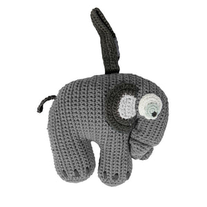 Crochet Musical Pull Elephant (Grey)- Sebra
