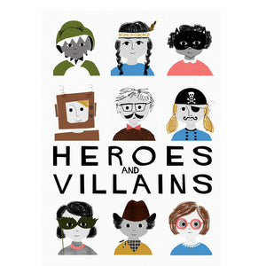 zigzag-and-zebra - Heroes and Villains A3 Print- Francesca Iannaccone - Zigzag and Zebra - Wall Print