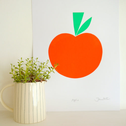Apple Screenprint- Jane Foster - Zigzag and Zebra