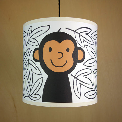 Monkey Pendant Lampshade- Lisa Jones - Zigzag and Zebra
