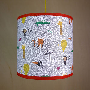 Jungle Pendant Lampshade- Lisa Jones - Zigzag and Zebra