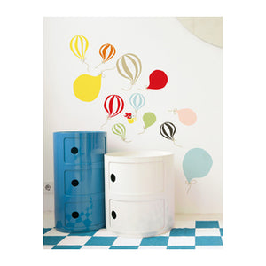 zigzag-and-zebra - Balloons Wall Stickers- Littlephant - Zigzag and Zebra - Wall Print