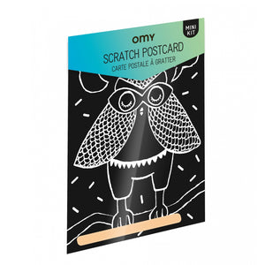 Loula Scratch Postcard- Omy - Zigzag and Zebra